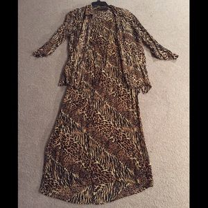 Style & Co 2piece leopard dress 🐆